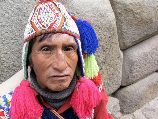 ein authentischer Inka-Nachfahre
