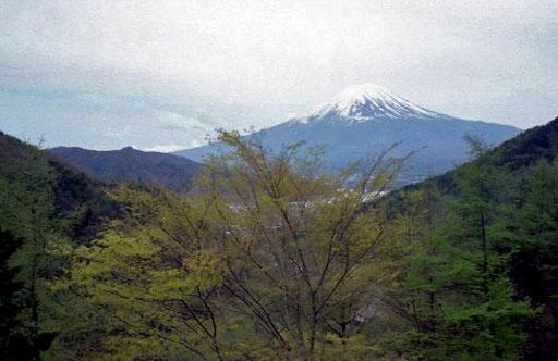 der heilige Berg Fuji-san kam langsam näher