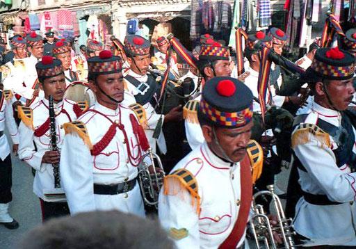 das Musik-Korps des Königs