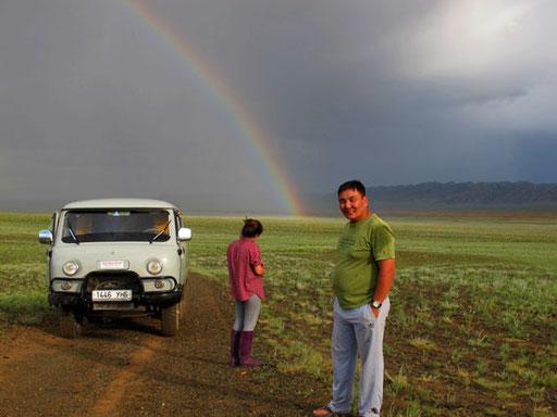dieser Regenbogen des Glücks hatten war auch notwendig