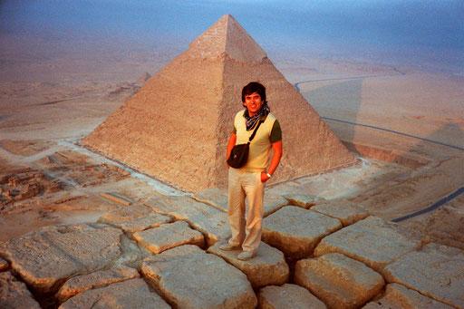 auf der Spitze der Cheops-Pyramide