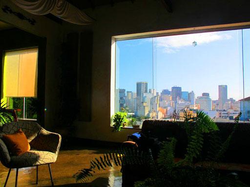der Ausblick vom Wohnraum aus
