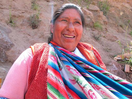 eine echte Peru-Indianerin