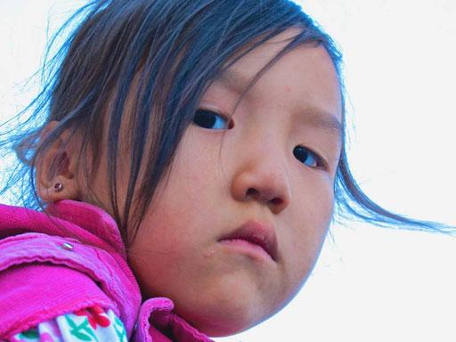 für dieses kleine Mädchen war ich ein interessanter Fremder