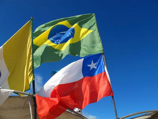 zur Fußball-WM wird die brasilianische Flagge überall wehen