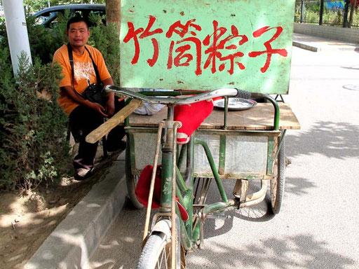 Strassenhändler der süsse Honig-Watte anbot