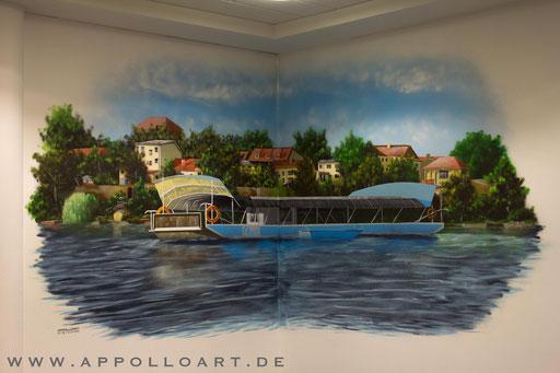 Wir haben für die schöne Stadt am See nun endlich das neue Wandbild in der Stadtverwaltung fertig, vor dieser Kulisse wird nun immer die Infos und Reportagen über die Stadt bekannt gegeben.  Liebe Grü