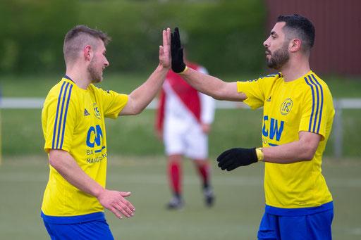 Dudek und Bali konnten sich heute über je drei Treffer und einen 7:1-Sieg freuen (Foto: 1. FC Solingen Media Team)