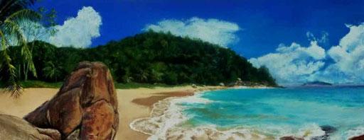 Seychellen-Strand-Pastell