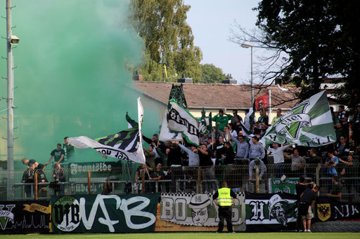 An den Fans lag es nicht - Über 200 unterstützen den VfB erneut im Auswärtsspiel - Foto: SR