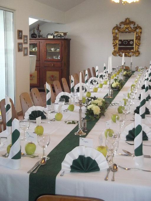 Der gedeckte Tisch in der Kästnerstube