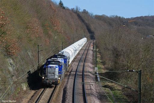 DT 4185 005 + 4185 008 mit DGS 48245 Dugny-sur-Meuse/FR - Dillingen Hochofen Hütte, Völklingen 13.02.2018