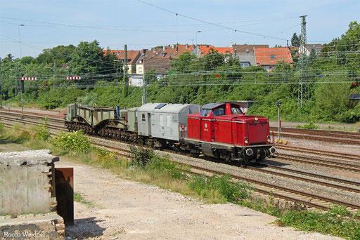 212 091 (VEB 212 209) mit DGS 61459 Dillingen DB/Mei - Darmstadt-Eberstadt (Sdl.), Saarbrücken-Burbach 16.08.2016