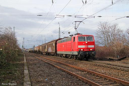 181 205 mit EK 55785 (M.Indusdriehafen) Mannheim-Käfertal - Mannhim Rbf Gr.K, 06.03.2017
