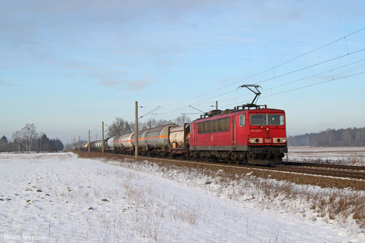 155 239 mit EK 53350 Lutherstadt-Wittenberg-Piesteritz Wbf - Leipzig-Engelsdorf, Schmerkendorf 20.01.2017