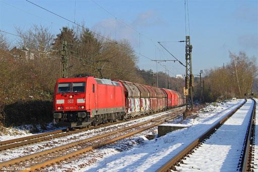 185 365 mit GM 60439 Auersmacher - Dillingen Zentralkokerei, Völklingen 02.12.2017