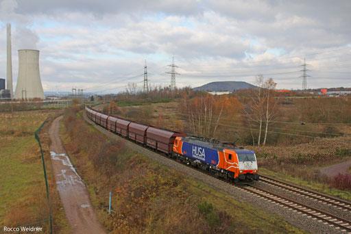 189 096 mit DGS 90225 - Göttelborn (Sdl.), Ensdorf(Saar) 01.12.2013