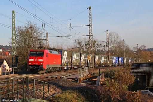 152 107 mit GA 52971 Saarbrücken Rbf Nord - Berlin-Lichterfelde West, Beckingen 30.11.2016
