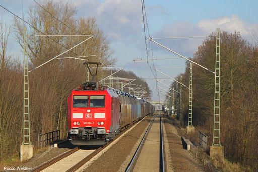 185 024 mit GA 49258 Einsiedlerhof - Hendaye/F, Homburg(Saar) 02.12.2017