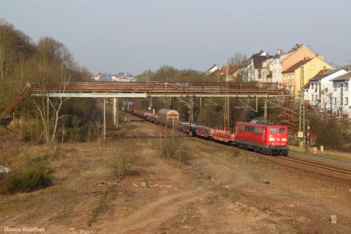 151 141 mit EZ 51927 Dillingen(Saar) - Mannheim Rbf Gr.K, Neunkirchen Sinnerthal 01.03.2016
