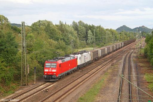 185 195 (186 168) mit GM 98842 (Widnes/GB) Forbach/F - Neuss Gbf (Sdl. Bleche & Bänder), Bous(Saar) 23.07.2017