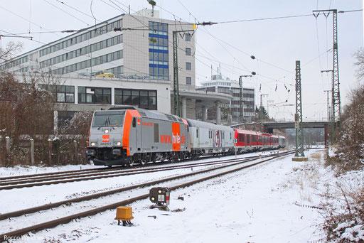 246 010 mit DbZ 20494 Ulm Hbf - Trier Hbf (Sdl. Überführung LINT 81 (620 002/502),  Saarbrücken Hbf 17.01.2013