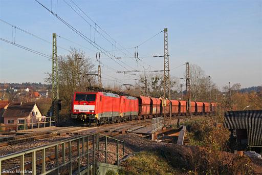 DT 189 044 + 189 034 mit GM 48714 Dillingen Hochofen Hütte - Maasvlakte Oost , Beckingen 30.11.2016