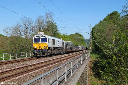 77 002 mit M 62604 Neunkirchen(Saar) Hbf - Baumholder (Sdl. Militär), Hofeld 16.05.2017