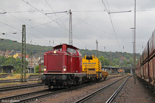 212 229 mit DGV 62079 Neunkirchen(Saar) Hbf - Eppelborn (Sdl.), 20.08.2016