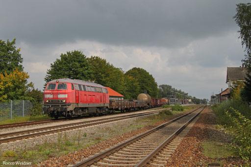 218 831 mit EZ 46133 Mannheim Rbf - Zürich Limmattal RB/CH (Chiasso/I) (Sdl. Frachten, Rastatt Umleiter), Laupheim West 20.09.2017