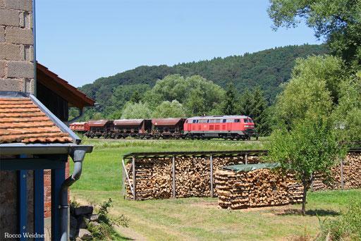 225 073 mit EK 55909 Rammelsbach Steinbruch - Einsiedlerhof, Niedermohr 19.07.2016