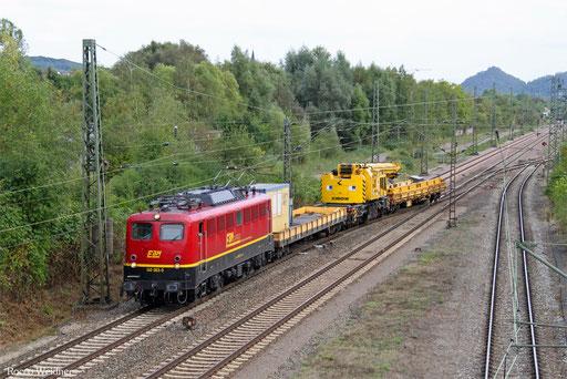 140 003 mit DGV 95295 Bous(Saar) - Koblenz-Lützel Mitte (Sdl. Kran), 26.09.2016