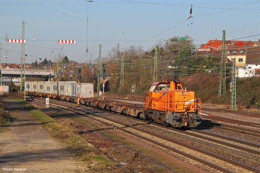 272 001 mit DGZ 95263 Dillingen-Katzenschwänz - Homburg(Saar) Hbf, Burbach 14.02.2018
