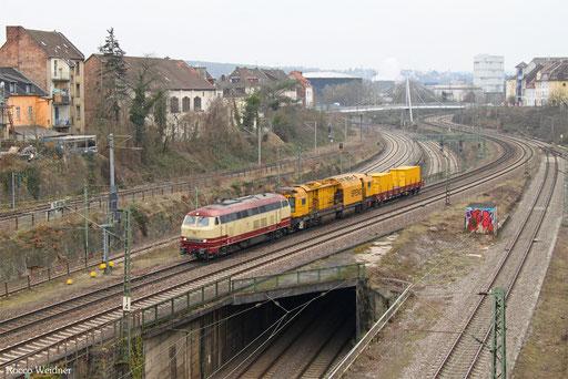 218 105 mit DGV 91909 Luisenthal(Saar) - Seddin (Sdl.), Saarbrücken 24.01.2017