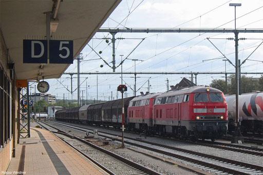 DT 218 837 + 218 831 mit EZ 46137 Mannheim Rbf Gr.M - Zürich Limmattal RB/CH , Singen(Htw) 07.09.2017