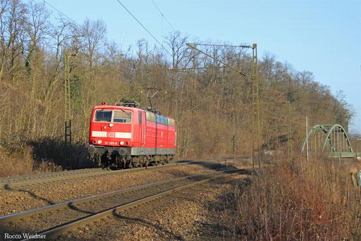 181 205 als Tfzf (F) 77913 Saarbrücken Hbf - Forbach/F, 18.01.2017