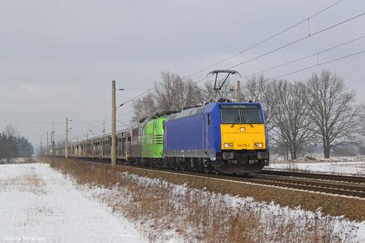 146 519 (151 ...) mit DGS 47365 Hamburg-Harburg Bbf - Decin hl.n.nakladni.n/CZ, Schmerkendorf 21.01.2017