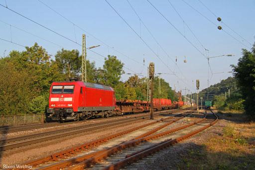 145 051 mit EZ 98772 (Gremberg Gsf) Ehrang Nord - Saarbrücken Rbf Nord (Sdl., ex 51424), Luisenthal(Saar) 15.08.2016