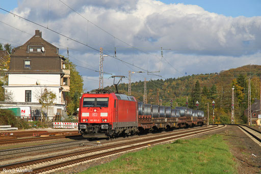 185 363 mit GM 62547 Oberhausen West Oro - Ehrang Nord (Revigny/F) (Sdl. Warmband), Dudweiler 27.10.2017
