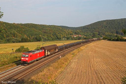185 082 mit EZ 51353 Gremberg Gsf - Nürnberg Rbf Einfahrt