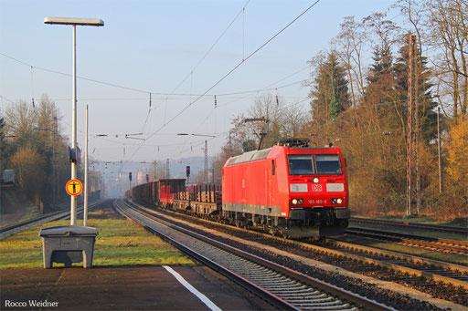 185 185 mit EZ 51927 Dillingen(Saar) - Mannheim Rbf Gr.G, Dudweiler 26.01.2016