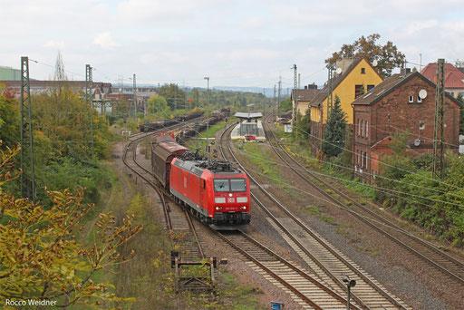 185 036 mit EK 74835 (Völklingen Walze) Bous - Saarbrücken Rbf (Sdl.), Bous 07.10.13