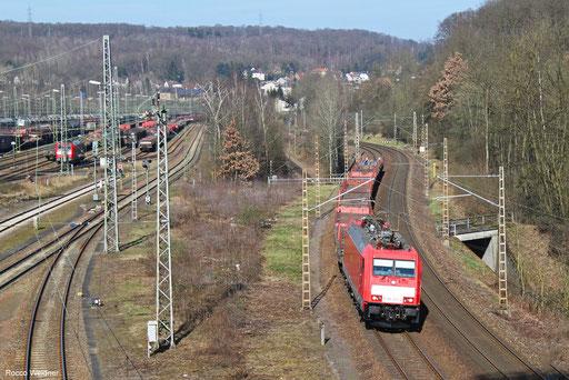 186 322 mit GM 60424 Neunkirchen(Saar) Hbf - Völklingen, Saarbrücken 24.02.2018
