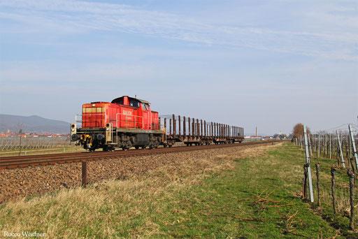 294 857 mit EK 55733 Neustadt(Weinstr.) Hbf - Landau Hbf, Maikammer-Kirrweiler 17.03.2017