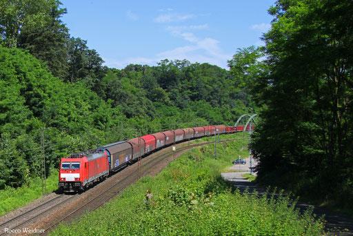 186 327 mit EZ 44210 Saarbrücken Rbf West - Blainville-Damelevieres, Saarbrücken 07.07.2016