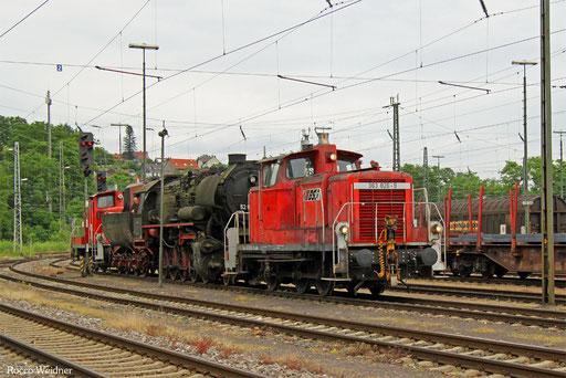 363 826 mit DGS 95315 (Schwarzerden) Ottweiler - Bous(Saar) (Sdl. Überführung 52 8039, Bremslok 363 162), Saarbrücken Rbf Nord 03.07.2016