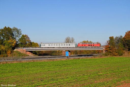225 073 mit M 62678 Hauptstuhl - Nordenham (Sdl. Militärleerwagen), 31.10.2016
