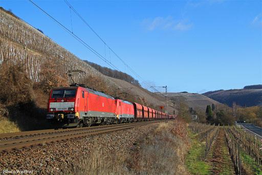 DT 189 045 + 189 031 mit GM 48722 Dillingen Hochofen Hütte - Maasvlakte Oost/NL, Kanzem 15.01.2017