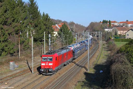185 030 mit GA 49258 Einsiedlerhof -   Hendaye/FR (Ciempozuelos/E), Forbach (Moselle) 14.02.2018