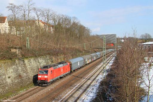 185 036 mit GA 98807 Saarbrücken Rbf West - Forbach/F (Le Rochelles) (Sdl. leere Wagen, ex. 44434), Saarbrücken 08.03.2016